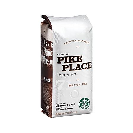 Starbucks® Pike Place Ground Coffee, Light Roast, 1 Lb Per Bag