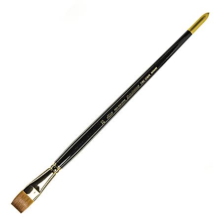 Silver Brush Renaissance Series Long-Handle Paint Brush 7102, Size 20, Bright Bristle, Sable Hiar, Multicolor
