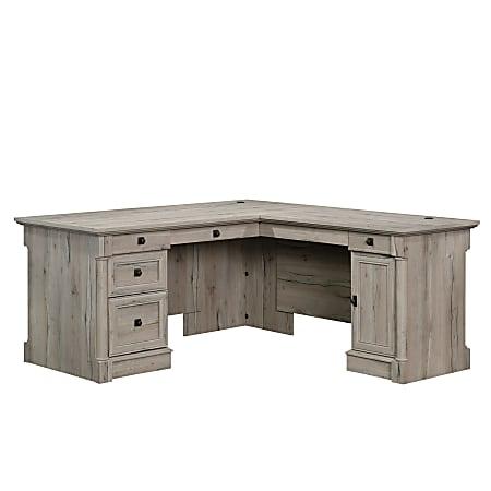Sauder Palladia Collection L-Shaped Desk, Split Oak