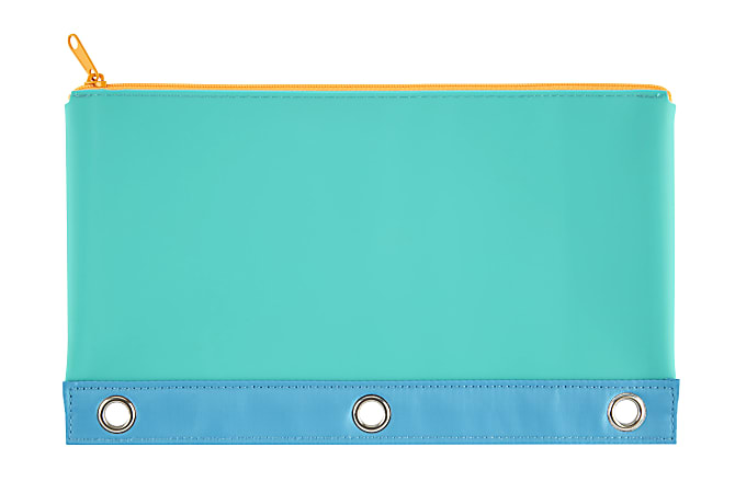 """Office Depot® Brand 3-Ring Pencil Pouch, 10"""" x 6"""", Blue"""