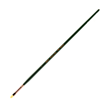 Silver Brush Grand Prix Paint Brush Series 1002, Size 1, Bright Bristle, Hog Hair, Green