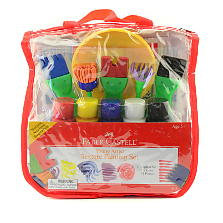 Faber-Castell 32-Piece Young Artist Texture Painting Set