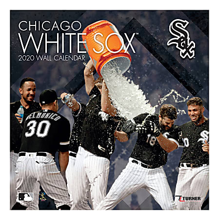 """Turner Licensing Monthly Wall Calendar, 12"""" x 12"""", Chicago White Sox, 2020"""