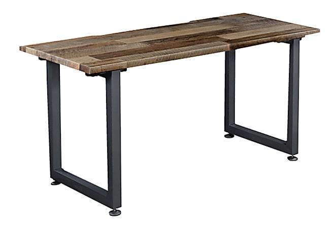 "Vari Table Desk, 60"" x 24"", Reclaimed Wood/Slate"