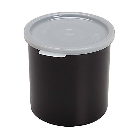 Cambro Crock With Lid, 1.5 Qt, Black