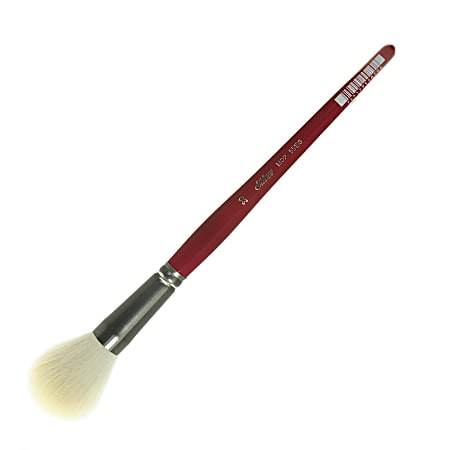 Silver Brush Mop Paint Brush, Size 20, Round Bristle, Goat Hair, Dark Red