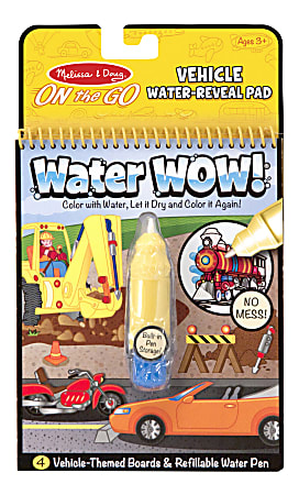 Melissa & Doug Water Wow! On-The-Go Water Reveal Pad Activity Book, Assorted Designs