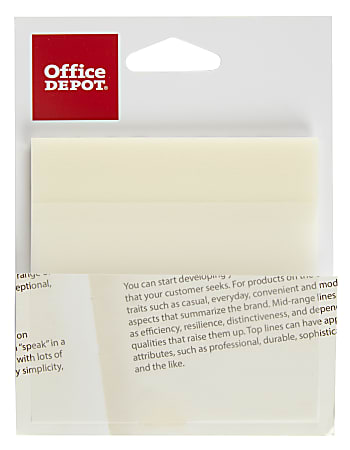 """Office Depot® Brand Translucent Sticky Notes, 3"""" x 3"""", Clear, Pad Of 50 Notes"""