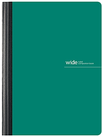 """Office Depot® Brand Poly Composition Book, 7 1/2"""" x 9 3/4"""", Wide Ruled, 160 Pages (80 Sheets), Green"""