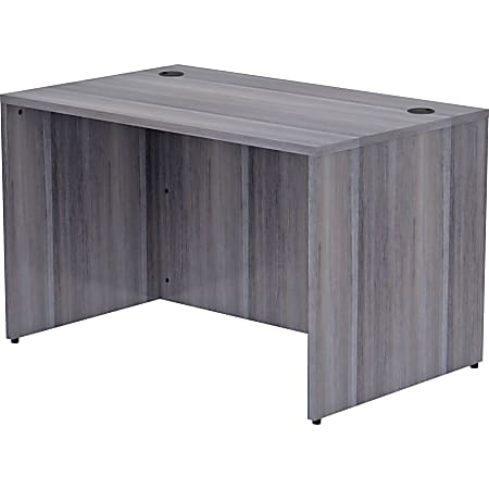 """Lorell® Essentials 48""""W Desk, Weathered Charcoal"""