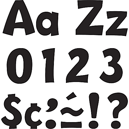 """Trend® Ready Letters® 4"""" Letters, Playful Combo, Black, Pack Of 70"""