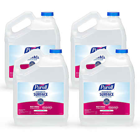 Purell® Food Service Surface Sanitizer, Unscented, 139.2 Oz Bottle, Case Of 4