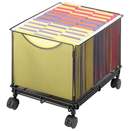 """Safco® Onyx Mesh Mobile File Cube, 13""""H x 13 1/2""""W x 16 3/4""""D"""