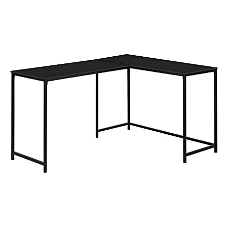 "Monarch Specialties Barry 59""W L-Shaped Computer Desk, Black"