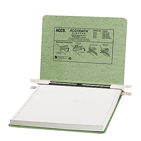 Wilson Jones® Presstex® Data Binder With Retractable Hooks, 60% Recycled, Green