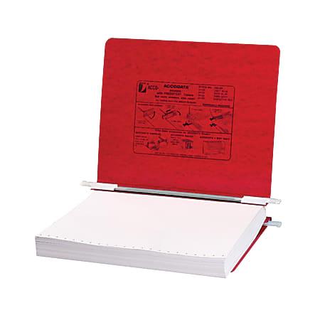 Wilson Jones® Presstex® Data Binder With Retractable Hooks, 60% Recycled, Red