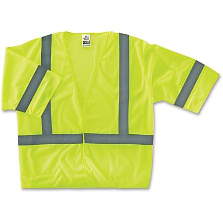 Ergodyne GloWear® Safety Vest, 8310HL Economy Type-R Class 3, Large/X-Large, Lime