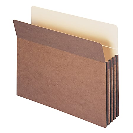 """Smead® Expanding File Pockets, 3 1/2"""" Expansion, 9 1/2"""" x 11 3/4"""", 30% Recycled, Redrope, Pack Of 25"""