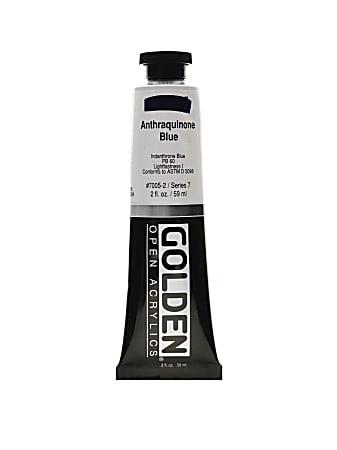 Golden OPEN Acrylic Paint, 2 Oz Tube, Anthraquinone Blue