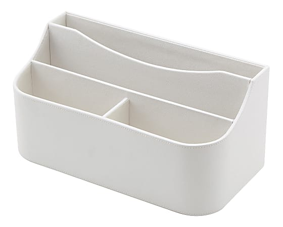See Jane Work®  White Faux Leather Desktop Valet