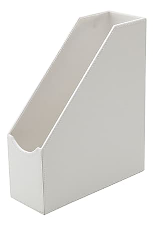 See Jane Work® White Faux Leather Magazine File