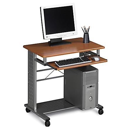 Eastwinds Empire Mobile PC Station, Medium Cherry/Metallic Gray