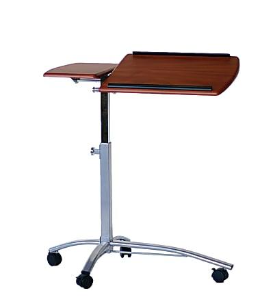 "Mayline® Group Laptop Caddy, 27-37""H x 29 1/2""W x 15""D, Medium Cherry/Metallic Gray"