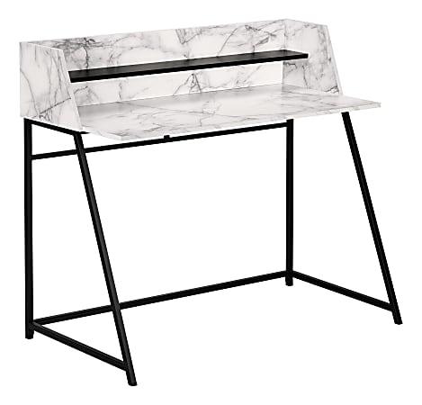 "Monarch Specialties Mattie 48""W Computer Desk, White/Black"