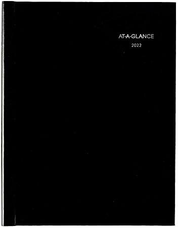 """AT-A-GLANCE® DayMinder Weekly Appointment Book, 8"""" x 11"""", Black, January To December 2022, G520H00"""