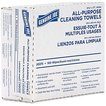 Genuine Joe All-Purpose Cleaning Towels, Box Of 100