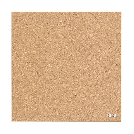 """U Brands Unframed Cork Bulletin Board, 14"""" x 14"""", Natural"""