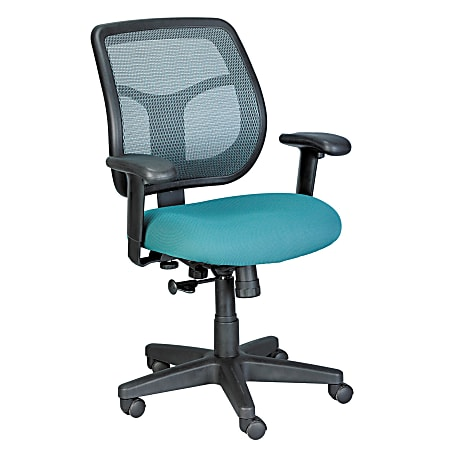 Raynor® Eurotech Apollo Mesh/Fabric Synchro Tilt Task Chair, Green/Black