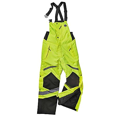 Ergodyne GloWear 8928 Class E Hi-Vis Insulated Bibs, Medium, Lime
