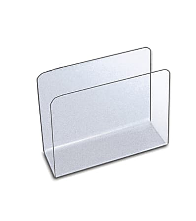 """Azar Displays Large Lateral Desk File Holders, 7-1/2""""H x 9-3/4""""W x 4""""D, Clear, Pack Of 4 File Holders"""