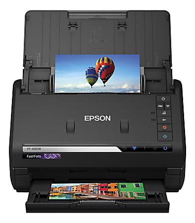 Epson® FastFoto® FF-680W High-Speed Wireless Desktop Photo Scanner