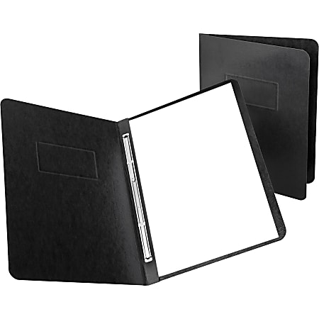"Oxford® PressGuard® Report Covers With Reinforced Side Hinge, 8 1/2"" x 11"", 30% Recycled, Black"