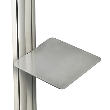 """Azar Displays Square Shelves For Sky Tower Display, 10"""", Silver, Pack Of 4 Shelves"""