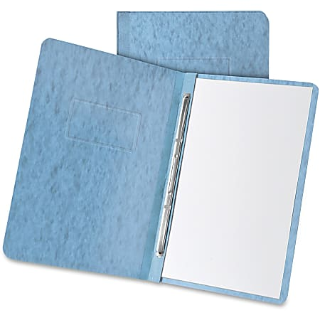 """Oxford® Heavyweight Pressboard Report Cover, 8-1/2"""" x 11"""", 65% Recycled, 3"""" Capacity, Light Blue"""