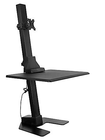"Mount-It MI-7951 Electric Standing Desk Converter, 23-1/8""H x 31-5/8""W x 7-15/16""D, Black"