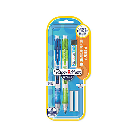 Paper Mate® Clearpoint® Mechanical Pencil Starter Set, 0.9mm, #2 Lead, Assorted Barrel Colors, Pack Of 2