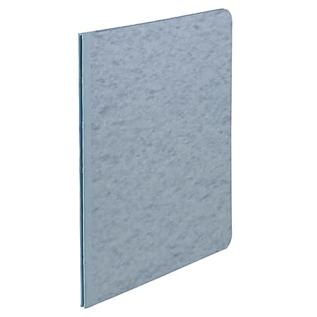 """ACCO® Pressboard Report Cover With Fastener, Side Bound, 8 1/2"""" x 11"""", 60% Recycled, Light Blue"""