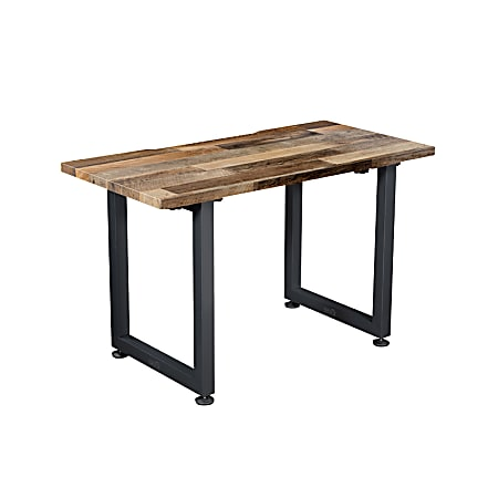 "Vari Table Desk, 48"" x 24"", Reclaimed Wood/Slate"