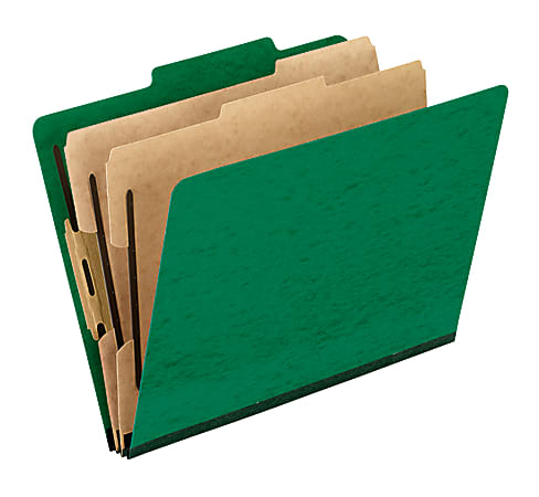 """Pendaflex® PressGuard® Color Classification File Folder, 8 1/2"""" x 11"""", Letter Size, 60% Recycled, Green, Box Of 10"""