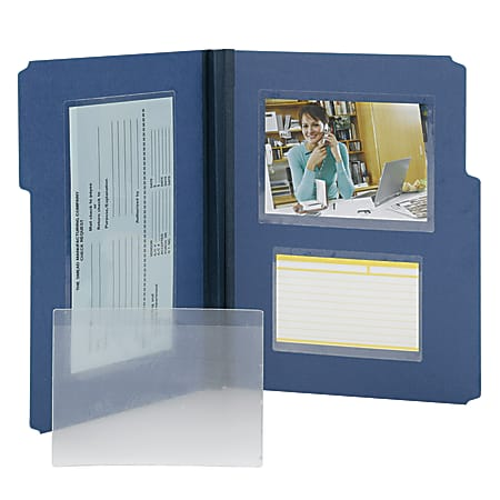"""Smead® Self-Adhesive Poly Document Pockets, 6 1/4"""" x 4 9/16"""", Clear, Box Of 100"""