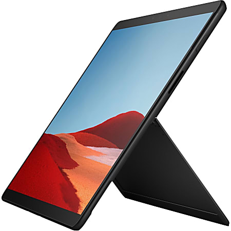 "Microsoft Surface Pro X Tablet, 13"" Touchscreen, 8GB RAM, 128GB HD, Windows 10, Matte Black"