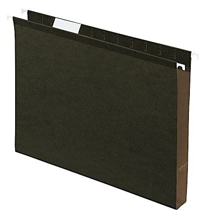 """Pendaflex® Premium Reinforced Extra-Capacity Hanging File Folders, 1"""" Expansion, Letter Size, Green, Pack Of 25 Folders"""
