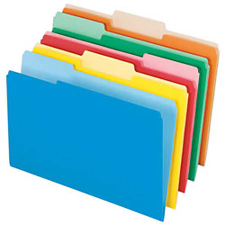 Pendaflex® Color Interior File Folders, 1/3 Cut, Legal Size, Assorted Colors #1, Pack Of 100