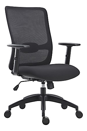 Lorell® SOHO Collection Lifting Armrest Staff Chair, Black