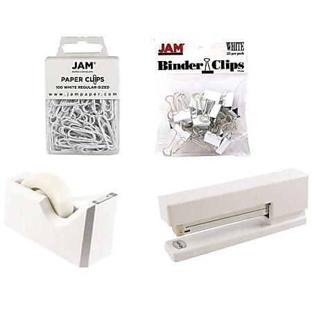 JAM Paper® 5-Piece Office Starter Kit, White
