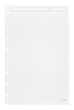 TUL® Discbound Refill Pages, Junior Size, Narrow Ruled, 300 Sheets, White